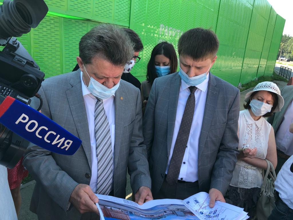Мэр Томска оценил ход строительства транспортной развязки на 76 км