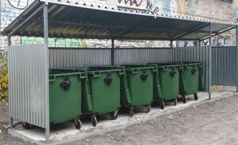 Новая контейнерная площадка установлена в Советском районе