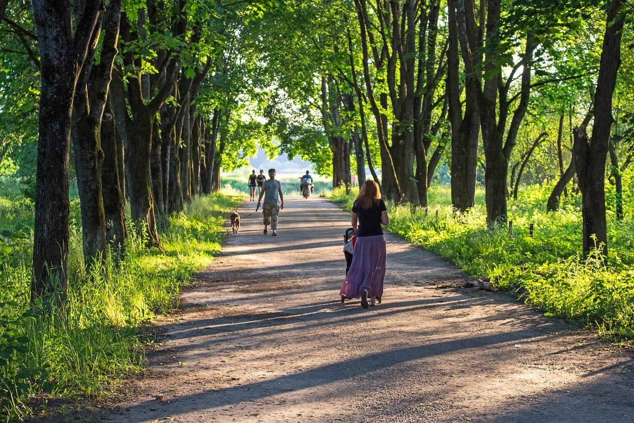 сверкающий люди в парке фото глаза